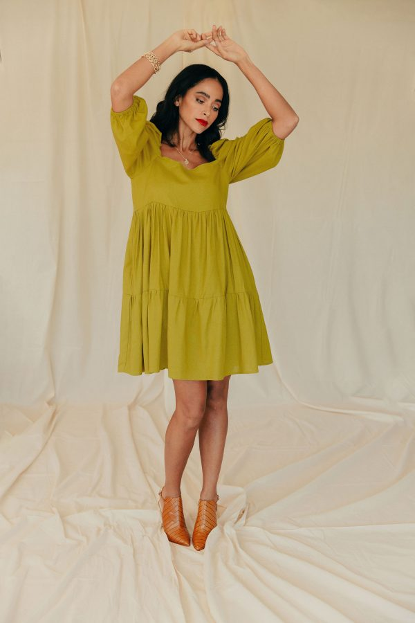 Baked Collection - Spellbound Dress - Chartreuse