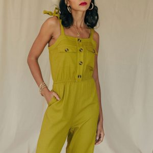 Baked Collection - Moonshine Jumpsuit - Chartreuse