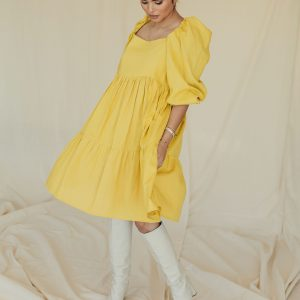 Baked Collection - Spellbound Dress - Sunshine Yellow