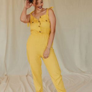 Baked Collection - Moonshine Jumpsuit - Sunshine Yellow