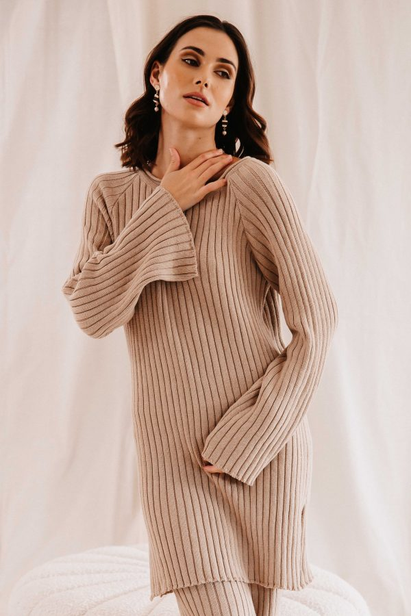Baked Collection - Celestial Knitted Mini Dress - Golden Hour
