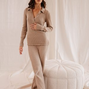 Baked Collection - Celestial Knitted Pants - Golden Hour