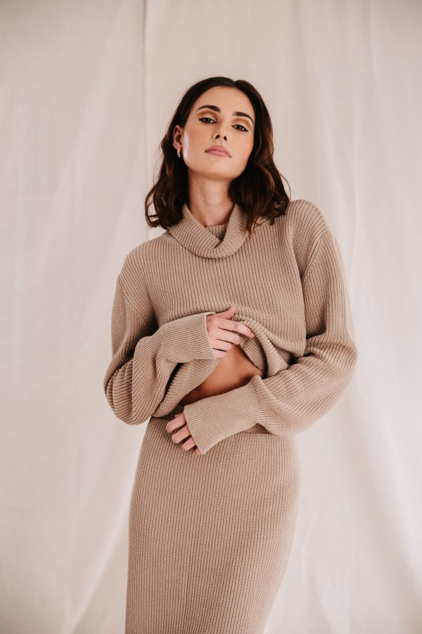 Baked Collection - Eclipse Knitted Midi Skirt - Golden Hour