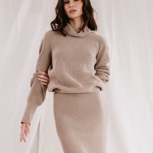 Baked Collection - Eclipse Knitted Roll Neck - Golden Hour