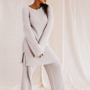 Baked Collection - Celestial Knitted Pants - Comet Grey